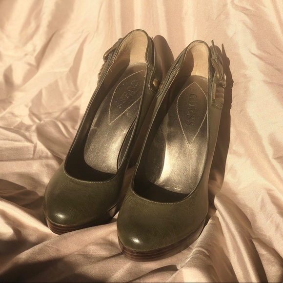 Guess Shoes - Guess Olive Buckle High Heels
